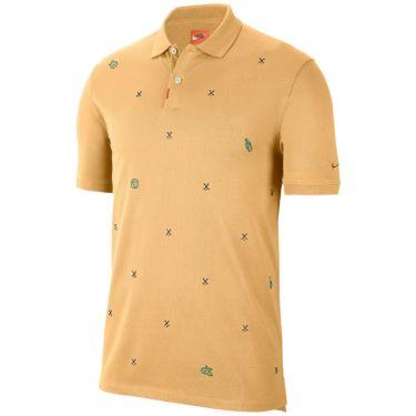 ナイキ NIKE 飛び柄刺繍 メンズ 半袖 ポロシャツ CI9772 251 セレスティアルゴールド 詳細4