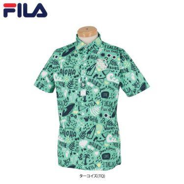 フィラ FILA メンズ アロハ柄 半袖 ポロシャツ 740-617 2020年モデル 詳細1