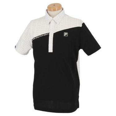 フィラ FILA メンズ カラーブロック 生地切替 半袖 ポロシャツ 740-622 2020年モデル ブラック(BK)