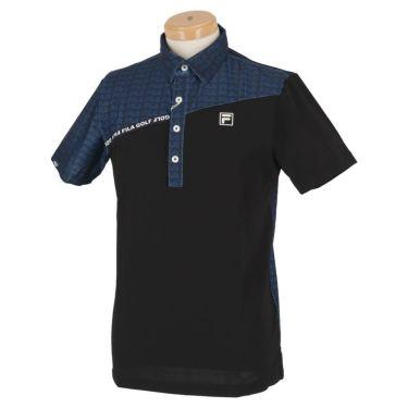 フィラ FILA メンズ カラーブロック 生地切替 半袖 ポロシャツ 740-622 2020年モデル ネイビー(NV)