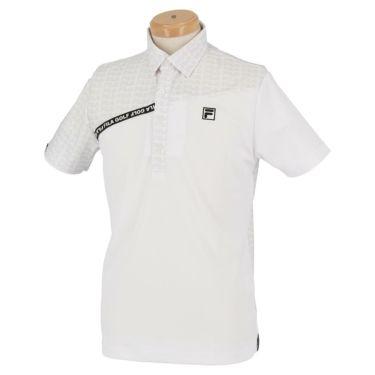 フィラ FILA メンズ カラーブロック 生地切替 半袖 ポロシャツ 740-622 2020年モデル ホワイト(WT)