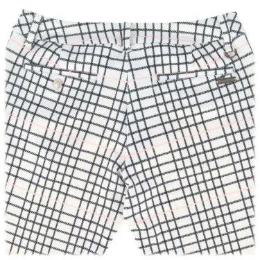 ブラック&ホワイト Black&White レディース チェック柄 ラインストーンロゴ ストレッチ ロングパンツ BLS5010EG 2020年モデル [裾上げ対応1●] 詳細4