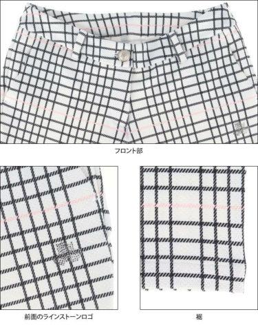 ブラック&ホワイト Black&White レディース チェック柄 ラインストーンロゴ ストレッチ ロングパンツ BLS5010EG 2020年モデル [裾上げ対応1●] 詳細5
