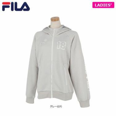 フィラ FILA レディース ハニカム ロゴプリント 長袖 フルジップ パーカー 750-202 2020年モデル 詳細1