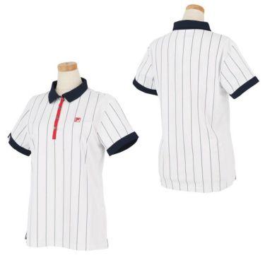 フィラ FILA レディース ストライプ柄 生地切替 半袖 ポロシャツ 750-606 2020年モデル 詳細3