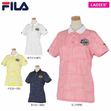 フィラ FILA レディース メッシュ生地 総柄 半袖 ポロシャツ 750-610 2020年モデル 詳細1