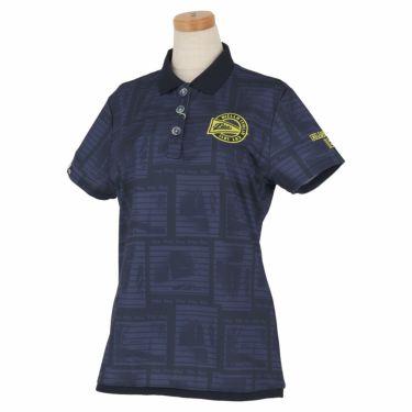 フィラ FILA レディース メッシュ生地 総柄 半袖 ポロシャツ 750-610 2020年モデル ネイビー(NV)
