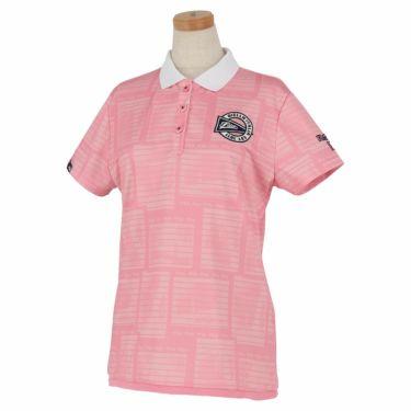 フィラ FILA レディース メッシュ生地 総柄 半袖 ポロシャツ 750-610 2020年モデル ピンク(PK)