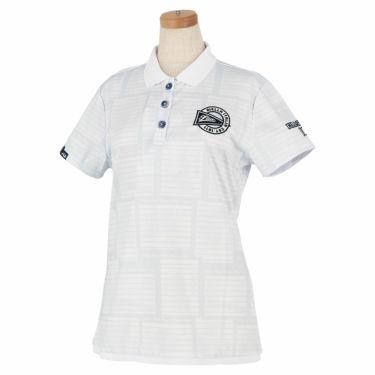 フィラ FILA レディース メッシュ生地 総柄 半袖 ポロシャツ 750-610 2020年モデル ホワイト(WT)