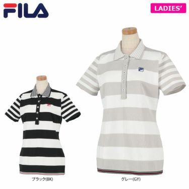 フィラ FILA レディース ボーダー柄 ニット 半袖 ポロシャツ 750-613 2020年モデル 詳細1