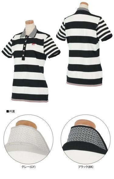 フィラ FILA レディース ボーダー柄 ニット 半袖 ポロシャツ 750-613 2020年モデル 詳細3