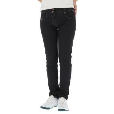 フィラ FILA レディース ロゴ刺繍 ストレッチ ロングパンツ 750-300 2020年モデル [裾上げ対応1] ブラック(BK)