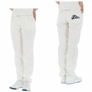 フィラ FILA レディース ロゴ刺繍 ストレッチ ロングパンツ 750-300 2020年モデル [裾上げ対応1] 詳細3