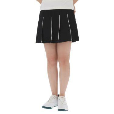 フィラ FILA レディース ハニカム パイピング プリーツ スカート 750-305 2020年モデル ブラック(BK)