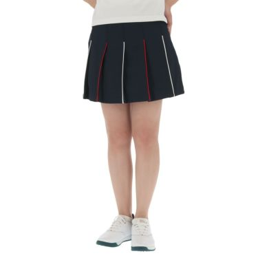 フィラ FILA レディース ハニカム パイピング プリーツ スカート 750-305 2020年モデル ネイビー(NV)