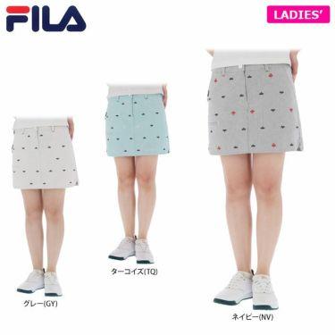 フィラ FILA レディース 飛び柄刺繍 コードレーン インナーパンツ一体型 キュロットスカート 750-312 2020年モデル 詳細1