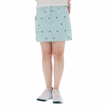 フィラ FILA レディース 飛び柄刺繍 コードレーン インナーパンツ一体型 キュロットスカート 750-312 2020年モデル ターコイズ(TQ)