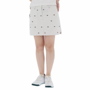 フィラ FILA レディース 飛び柄刺繍 コードレーン インナーパンツ一体型 キュロットスカート 750-312 2020年モデル グレー(GY)