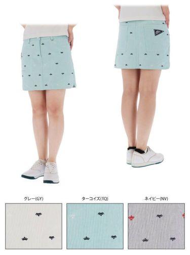 フィラ FILA レディース 飛び柄刺繍 コードレーン インナーパンツ一体型 キュロットスカート 750-312 2020年モデル 詳細3