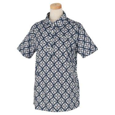マリクレール marie claire レディース ロゴ刺繍 アラベスク柄 半袖 ポロシャツ 710-600 2020年モデル ネイビー(NV)