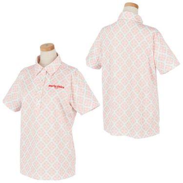 マリクレール marie claire レディース ロゴ刺繍 アラベスク柄 半袖 ポロシャツ 710-600 2020年モデル 詳細3