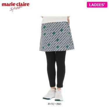 マリクレール marie claire レディース 総柄プリント レギンス一体型 スカート 710-307 2020年モデル