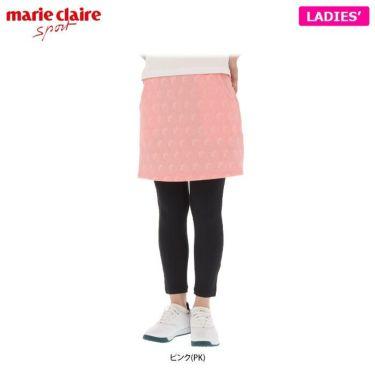 マリクレール marie claire レディース ストライプ花柄 エンボスニット レギンス一体型 スカート 710-360 2020年モデル