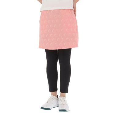 マリクレール marie claire レディース ストライプ花柄 エンボスニット レギンス一体型 スカート 710-360 2020年モデル 詳細1
