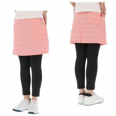マリクレール marie claire レディース ストライプ花柄 エンボスニット レギンス一体型 スカート 710-360 2020年モデル 詳細3