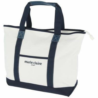 マリクレール marie claire レディース ロゴ刺繍 ボストンバッグ 710-954 WT ホワイト 2020年モデル ホワイト(WT)