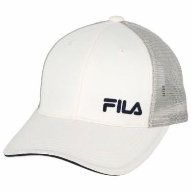 フィラ FILA メンズ ロゴ刺繍 メッシュ キャップ 740-901 WT ホワイト 2020年モデル ホワイト(WT)