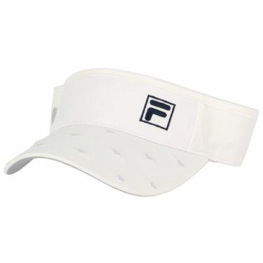 フィラ FILA レディース 飛び柄刺繍 サンバイザー 750-920 WT ホワイト 2020年モデル ホワイト(WT)