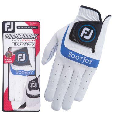 フットジョイ FootJoy NANOLOCK TECH ナノロック テック 2021年モデル メンズ ゴルフグローブ FGNTC21 WB ホワイト/ブルー
