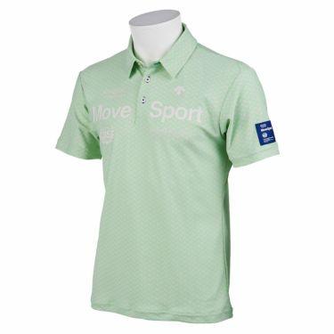 デサントゴルフ DESCENTE GOLF メンズ 鹿の子 ロゴプリント 杉綾柄 半袖 ポロシャツ DGMRJA36 2021年モデル グリーン(GR00)