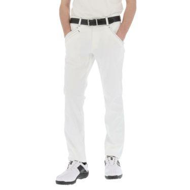 ルコック Le coq sportif メンズ ドビー ストレッチ テーパード ロングパンツ QGMRJD03 2021年モデル [裾上げ対応1●] ホワイト(WH00)