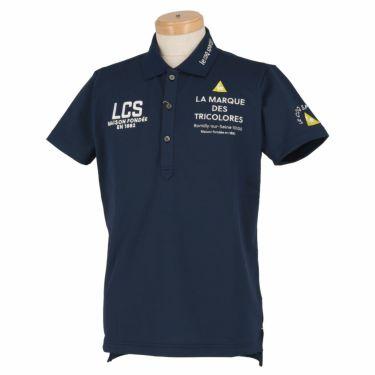 ルコック Le coq sportif メンズ ロゴ刺繍 半袖 ポロシャツ QGMRJA05 2021年モデル ネイビー(NV00)
