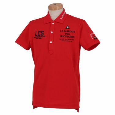 ルコック Le coq sportif メンズ ロゴ刺繍 半袖 ポロシャツ QGMRJA05 2021年モデル レッド(RD00)