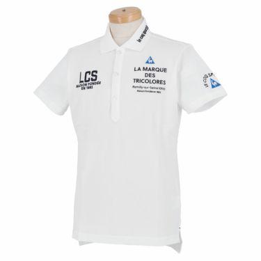 ルコック Le coq sportif メンズ ロゴ刺繍 半袖 ポロシャツ QGMRJA05 2021年モデル ホワイト(WH00)