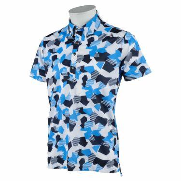 ルコック Le coq sportif メンズ カモフラージュ柄 半袖 ボタンダウン ポロシャツ QGMRJA11 2021年モデル ブルー(BL00)
