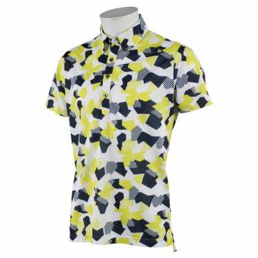 ルコック Le coq sportif メンズ カモフラージュ柄 半袖 ボタンダウン ポロシャツ QGMRJA11 2021年モデル ライム(LM00)
