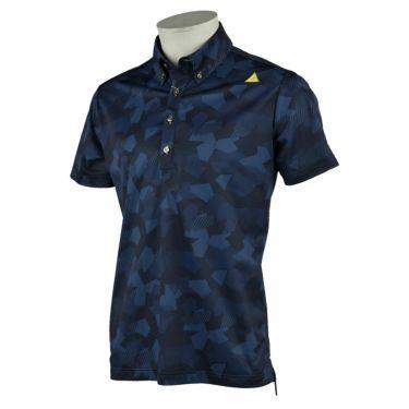 ルコック Le coq sportif メンズ カモフラージュ柄 半袖 ボタンダウン ポロシャツ QGMRJA11 2021年モデル ネイビー(NV00)