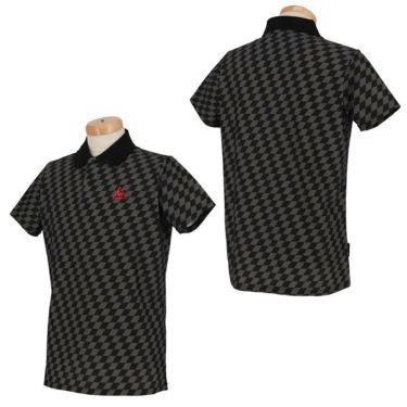 ルコック Le coq sportif メンズ チェッカーフラッグ柄 半袖 ポロシャツ QGMRJA33 2021年モデル 詳細3