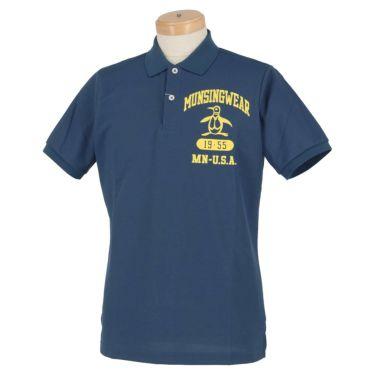 マンシングウェア Munsingwear メンズ ロゴ刺繍 半袖 ポロシャツ MGMRJA04 2021年モデル ネイビー(NV00)
