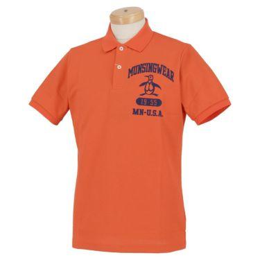 マンシングウェア Munsingwear メンズ ロゴ刺繍 半袖 ポロシャツ MGMRJA04 2021年モデル オレンジ(OR00)