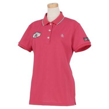 マンシングウェア Munsingwear レディース ロゴ刺繍 鹿の子 半袖 ポロシャツ MGWRJA03X 2021年モデル ピンク(PK00)