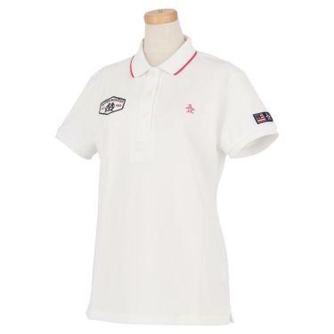 マンシングウェア Munsingwear レディース ロゴ刺繍 鹿の子 半袖 ポロシャツ MGWRJA03X 2021年モデル ホワイト(WH00)