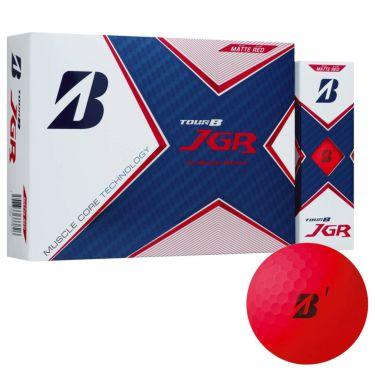 ブリヂストン TOUR B JGR 2021年モデル ゴルフボール 1ダース(12球入り) マットレッド マットレッド