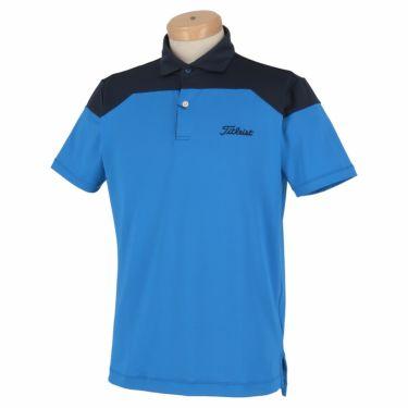 タイトリスト Titleist メンズ ロゴ刺繍 配色切替 半袖 ポロシャツ TSMC2008 2020年モデル ブルー(BL)
