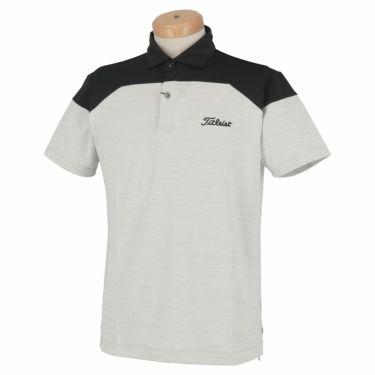 タイトリスト Titleist メンズ ロゴ刺繍 配色切替 半袖 ポロシャツ TSMC2008 2020年モデル ライトグレー(LG)