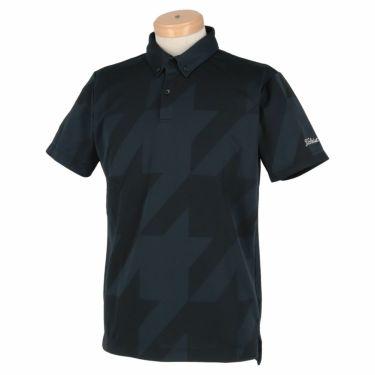 タイトリスト Titleist メンズ 千鳥柄 ジャガード 半袖 ボタンダウン ポロシャツ TSMC2012 2020年モデル ブラック(BK)